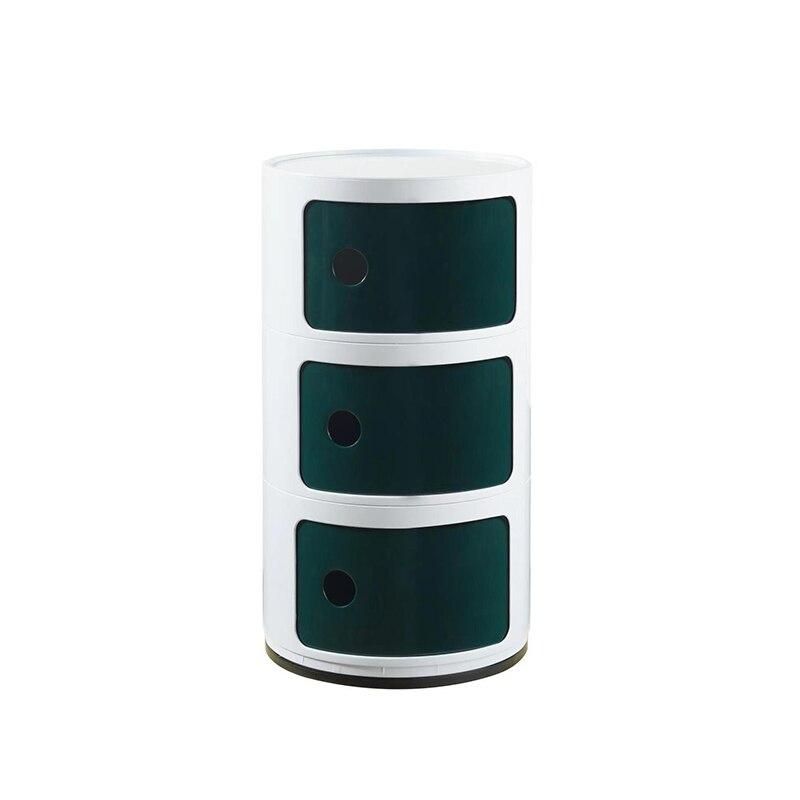 3 слоя Nordic АБС пластик детская прикроватная тумбочка ABC простой современный шкаф для хранения Творческий Многослойные журнальный столик - 2