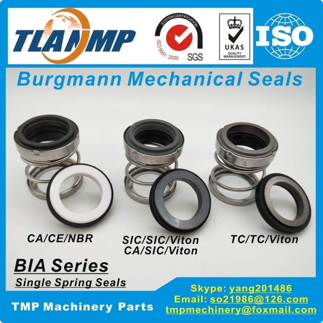 BIA 38 BIA/38 Burgmann Mechanical Seals  Rubber Below Water Pump Seal (Material:CA CE NBR, CA SIC VIT, SIC SIC VIT, TC TC VIT)