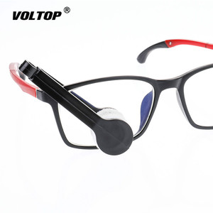 Image 2 - 1pcs Sunglass Glasses Case Holder Car Accesories Cleaning Tools Multifunctional Portable Glasses Wiping Tool