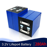 3.2V 280Ah Lifepo4 batteria super grado A DIY 12V 24V 48V 280AH batteria ricaricabile per sistema di accumulo solare RV esente da tasse