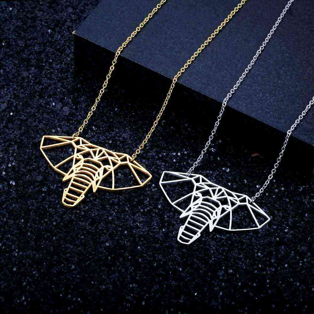 100% Real Stainless Steel 40cm Large Elephant Head Long Necklace Trend Jewelry Necklaces Super Quality