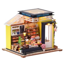 Toy Doll-House Mini DIY Decoration Gift Cake-Shop Theme Beautiful Very Children Is Suitable-For