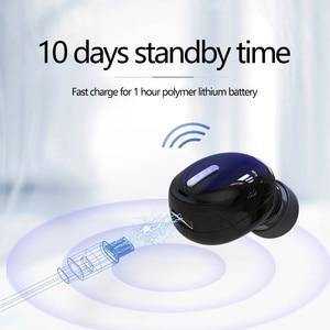Image 2 - 미니 무선 이어폰 블루투스 5.0 귀에 이어폰 핸즈프리 헤드셋 이어폰 마이크와 아이폰 Xiaomi 스마트 폰 PC