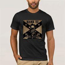 T-shirts de manga curta masculina t-shirts hank williams iii rebel dentro dos homens