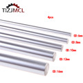 4pcs Optical Axis Linear Shaft Rail 200 300 400 500 600 1000 Smooth Rods6/8/10/12/16mm3D Printer Parts Chrome Plated Guide Slide