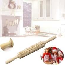 Рождественская деревянная скалка для тиснения печенье фондан