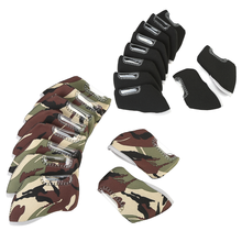 10Pcs/Set Golf Club Headcover Neoprene Putter Protective Cover with Window for Iron Head Club Golf Accessories