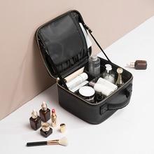 Women Cosmetic Bag PU Leather Makeup Bag Waterproof Travel M