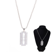 Pendant Necklaces Razor-Blades Jewelry Steel Stainless-Steel Cool Male 1pc Shaver-Shape