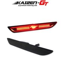 Smoked Lens LED Vermelho 48 SMD 3D Mustang Projeto Traseiro Bumper Fender Lado Marcador Luzes de nevoeiro Para 2015 2018 Ford Mustang luzes de Presença laterais