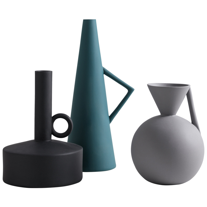 Nordic Fashion Creative Models Ceramic Vase Garden Flower Pot Tabletop Vase Creative Models Classic Vases Home Decoration in Flower Pots Planters from Home Garden
