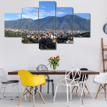 Avila Caracas Mountain diamond painting multi panel City mosaic diamond embroidery full drill square round diamond art 5 pcs set(China)