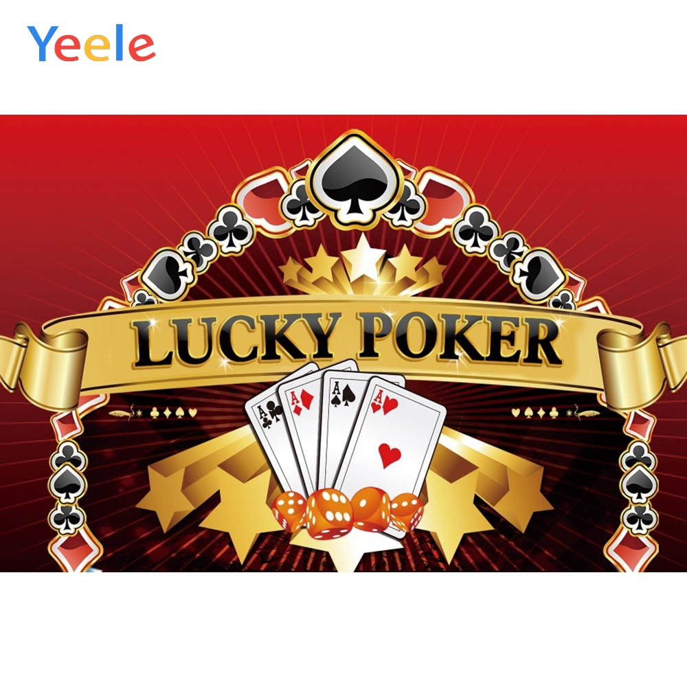 Yeele Poker Gambling Casino Poster Photophone Painting Photography Photographic Backgrounds Party Backdrops For Photo Studio(China)