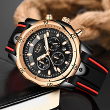 2019New LIGE Silicone Strap Men Watches Fashion Top Brand luxury Business Luminous Quartz Watch Casual Waterproof Date Clock