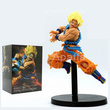 18 centímetros Dragon Ball Super Saiyan Goku Z-Batalha PVC Figuras de Ação Brinquedos Toy Collectible Modelo(China)