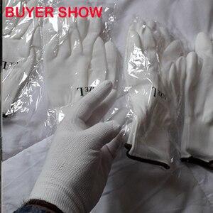 Image 5 - NMSAFETY 24Pcs/12 זוגות אנטי סטטי ESD בטיחות כפפת עם סרוג ניילון טבילה PU אצבע אוניברסלי כפפה