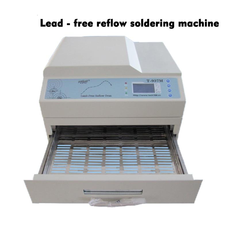 Lead-free Refluxo Máquina Soldador T-937M Equipado Com Software de Controle de PC-lado Com fonte de Alimentação de Tensão E Frequência 220 ~ 230V