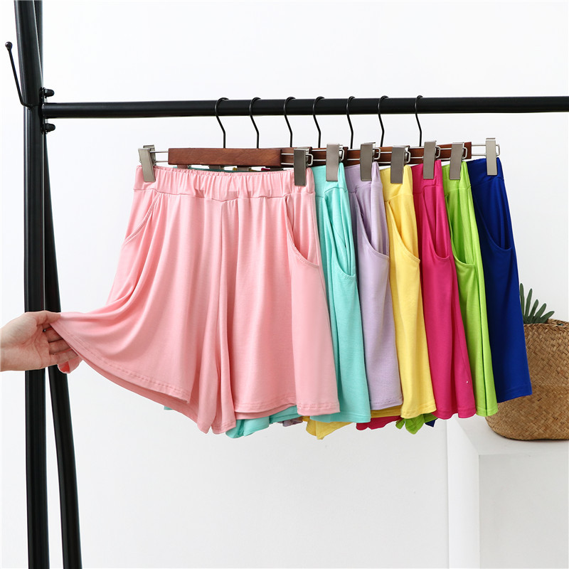 Women Summer Casual Shorts Modal And Cotton Trousers High Waist Lady's Loose And Comfortable Hot Shorts Girls' Relaxed Garments