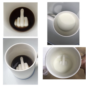 Image 5 - 3D Inner Middle Finger Cute Coffee Milk Ceramic Cup Novelty Style Design White Funny Gift For Friend Relax Stress Office Crafts