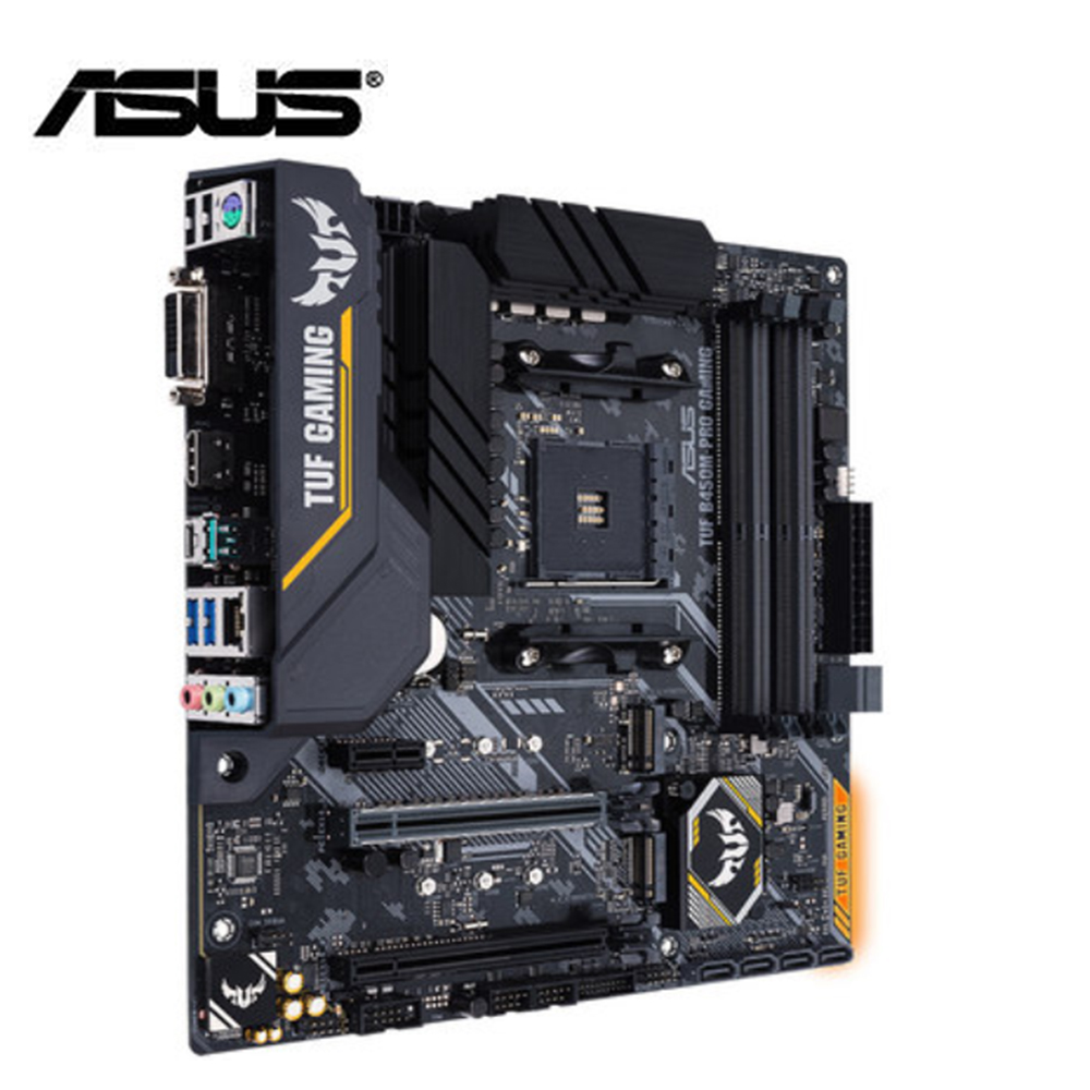 ASUS motherboard TUF b450m-pro GAMING mATX with RGB LED lighting ,support up to DDR4 3533MHz dual M.2 native USB 3.1 brand new