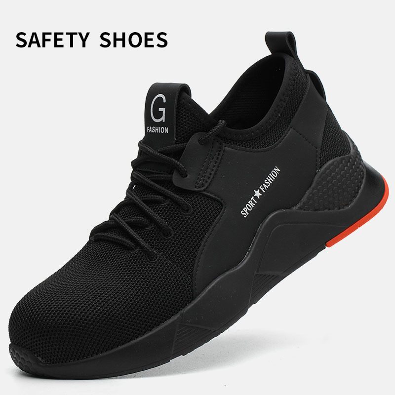 Safety Shoes Male Safety Anti-smash Anti-stab Deodorant Breathable