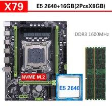 Комплект материнской платы Kllisre X79 с Xeon LGA2011 E5 2640 2 × 8 ГБ = 16 Гб 1600 МГц DDR3 память ECC REG