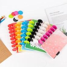 Anneaux de reliure couleur bonbon 35mm, 30 pièces, bricolage, disques de reliure, champignon, reliure de feuilles mobiles, planificateur, fournitures de bureau