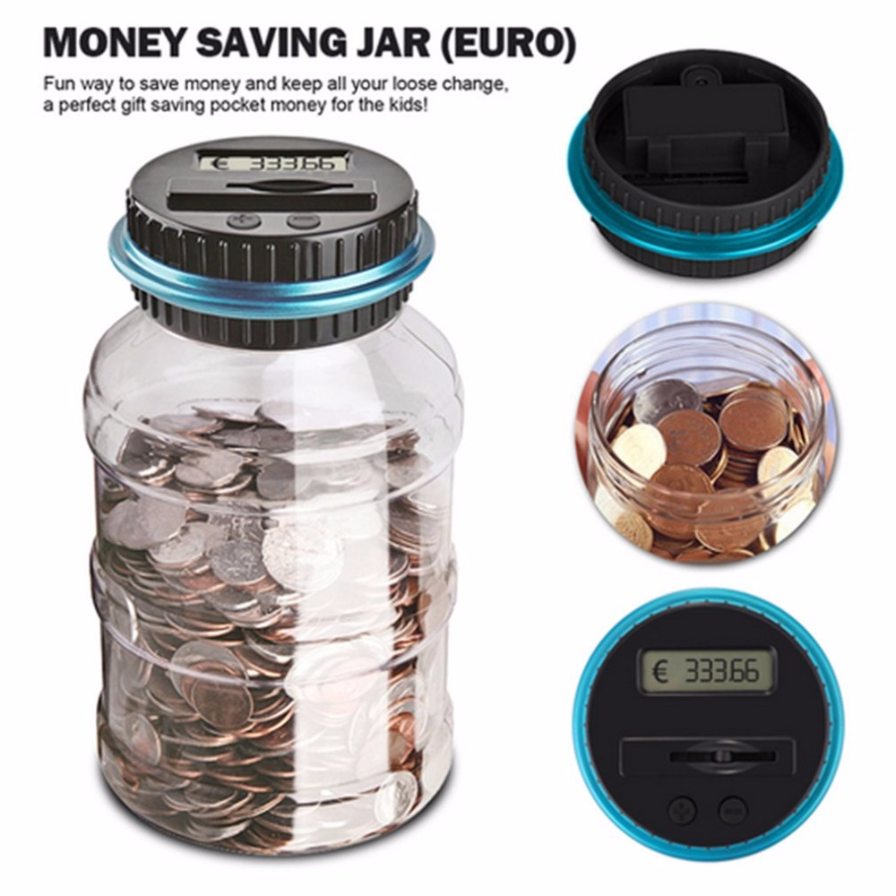 Portable Size LCD Display Electronic Digital Counting Coin Bank Money Saving Box Jar Counter Bank Box Best Gift Dropshipping image