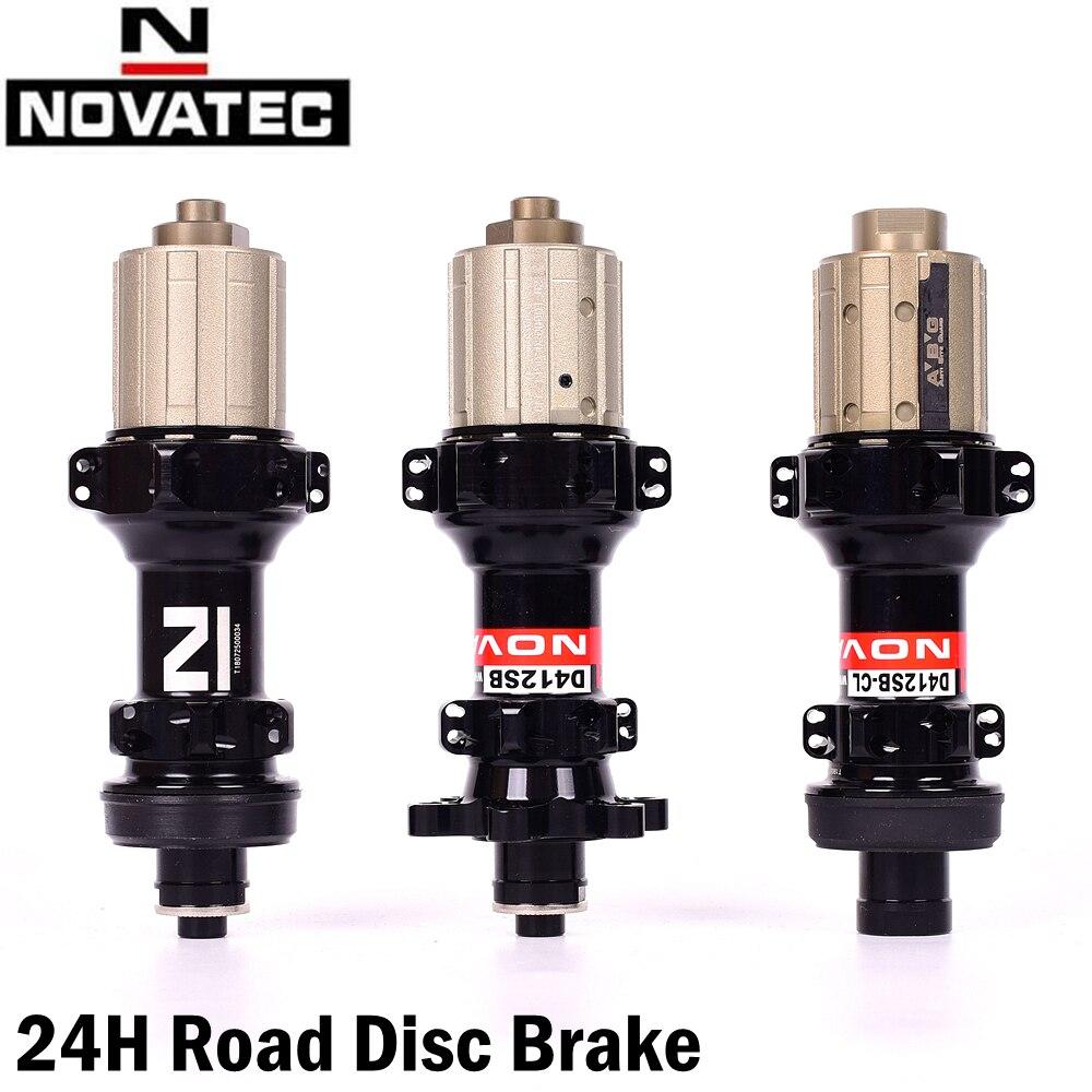 Novatec d411sb d412sb 24h cubos de bicicleta freio a disco estrada liberação rápida ou através do eixo 12*100mm 12*142mm cubos mtb