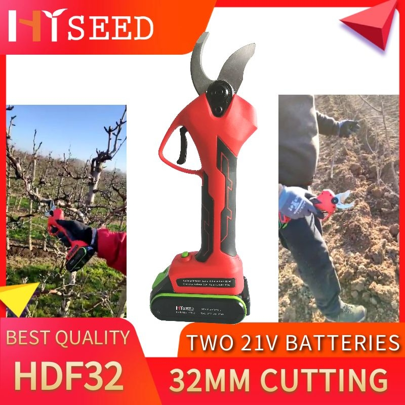 HDF32 32mm Cutting Bulti-in Pruner Two  Professional Battery Secateurs Suitable For Vineyard,apples,plums, Pear, Rasberry,