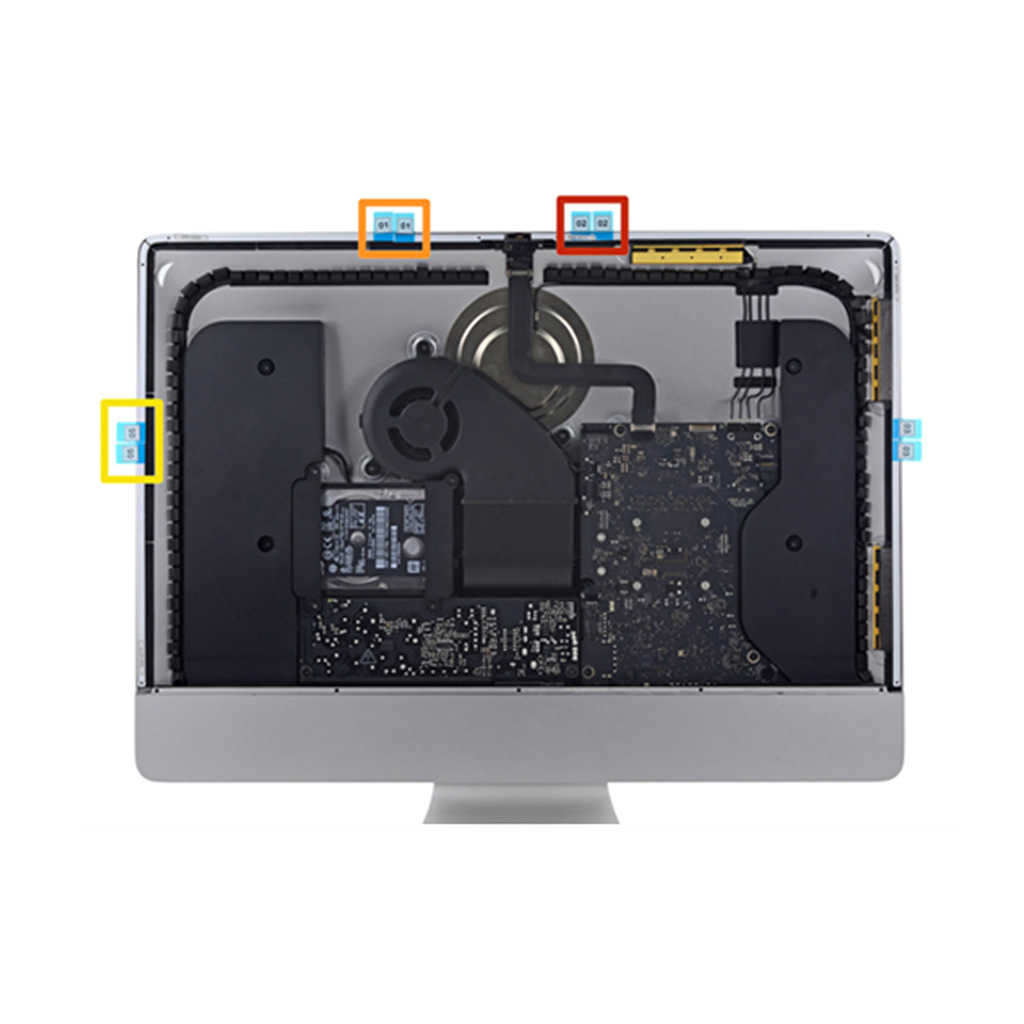 A1418 A1419 شاشة LCD شريط لاصق ل iMac شاشة الكريستال السائل لاصق ملصق الشريط الخامس
