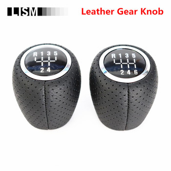 Punching Hole Leather 56 Speed MT Gear Shift Knob for Chevrolet Chevy Cruze 2008-12 Car Gearshift Shifter Headball Pen Gearknob