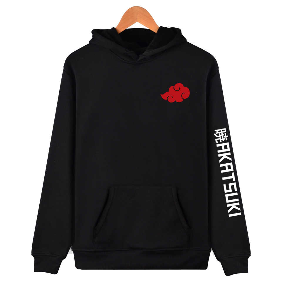 Japan Cartoon Anime Naruto Harajuku Akatsuki Mitglied Hoodies Hip Hop Pullover Sweatshirt Itachi Obito Fleece Hoodie Sudadera