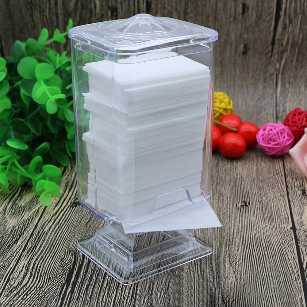 Clear Makeup Cotton Pad Box Swab Organizer Holder Nail Art Remover Paper Wipe Holder Container Storage Case