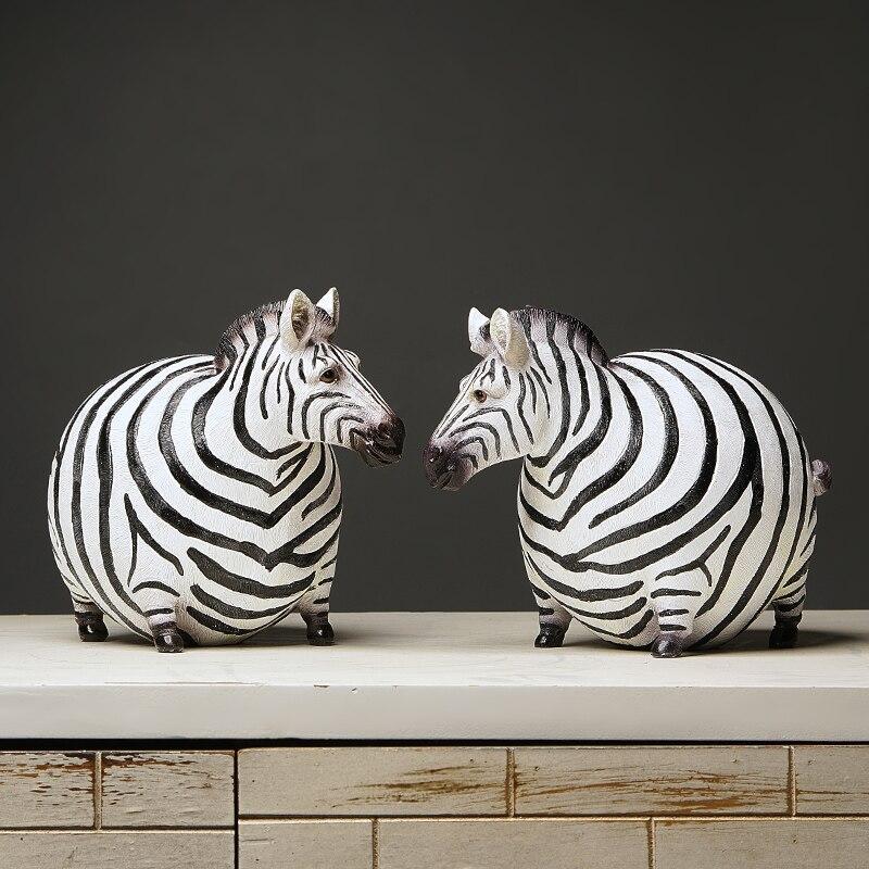 Новые творческие фигурка зебры Зебра домашний декор Гостиная Зебра Скульптура вина ТВ шкаф орнамент ремесла абстрактный фигурка животного