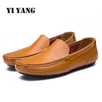 Loafers Men Shoes Genuine Leather Fashion Casual Breathable Moccasins Shoes Comfortable Flat Slip on Male Shoes Big Size38-48 fires men casual shoes adult spring breathable flat shoes autumn soft fashion loafers male lace up comfortable shoes man shoes