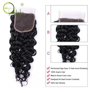 Image 5 - Sterly מים גל חבילות עם סגירת רמי שיער טבעי חבילות עם סגירה ברזילאי שיער Weave חבילות עם סגירה