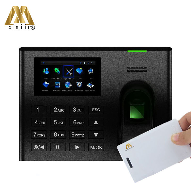 Biometric Fingerprint Time Attendance UA100 ZK Linux System TCP/IP Web With MF IC Card Based Employee Time Recording Time Clock