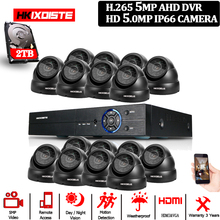 5MP UHD Security Camera System 16CH H.265 DVR with PTZ Outdoor Indoor video Surveillance kit Night Vision Waterproof CCTV System