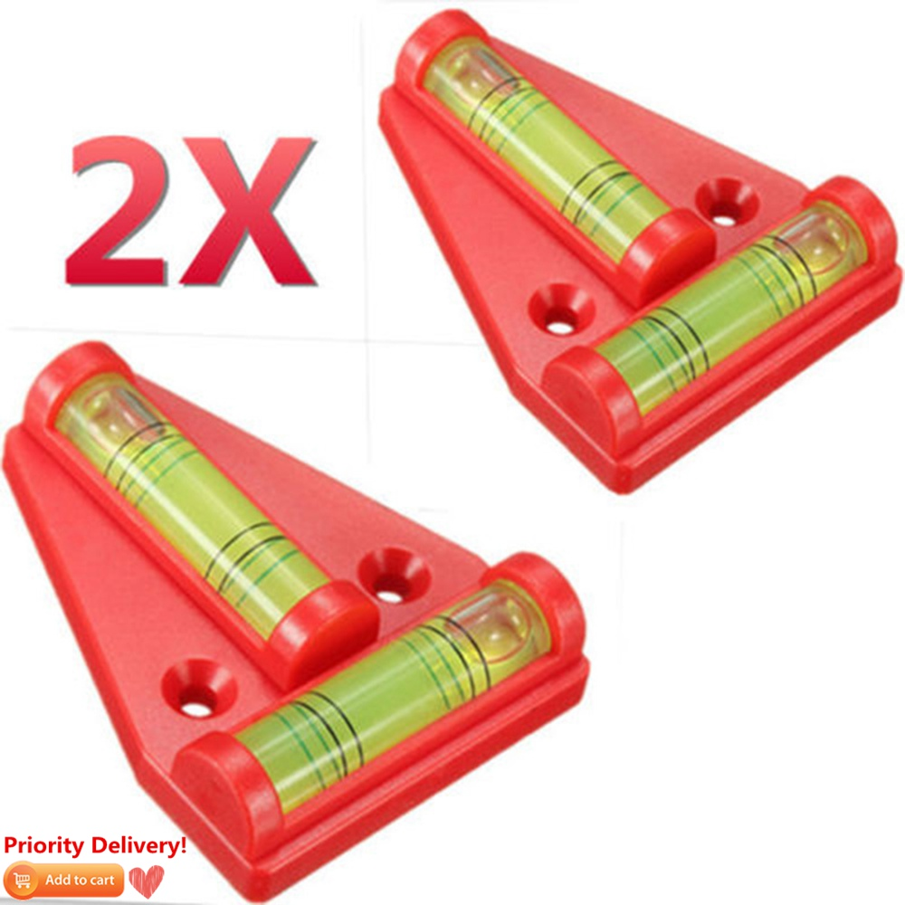 2pcs Mini T Level Caravan RV Camper Trailer Motorhome Sailing Accessories Parts