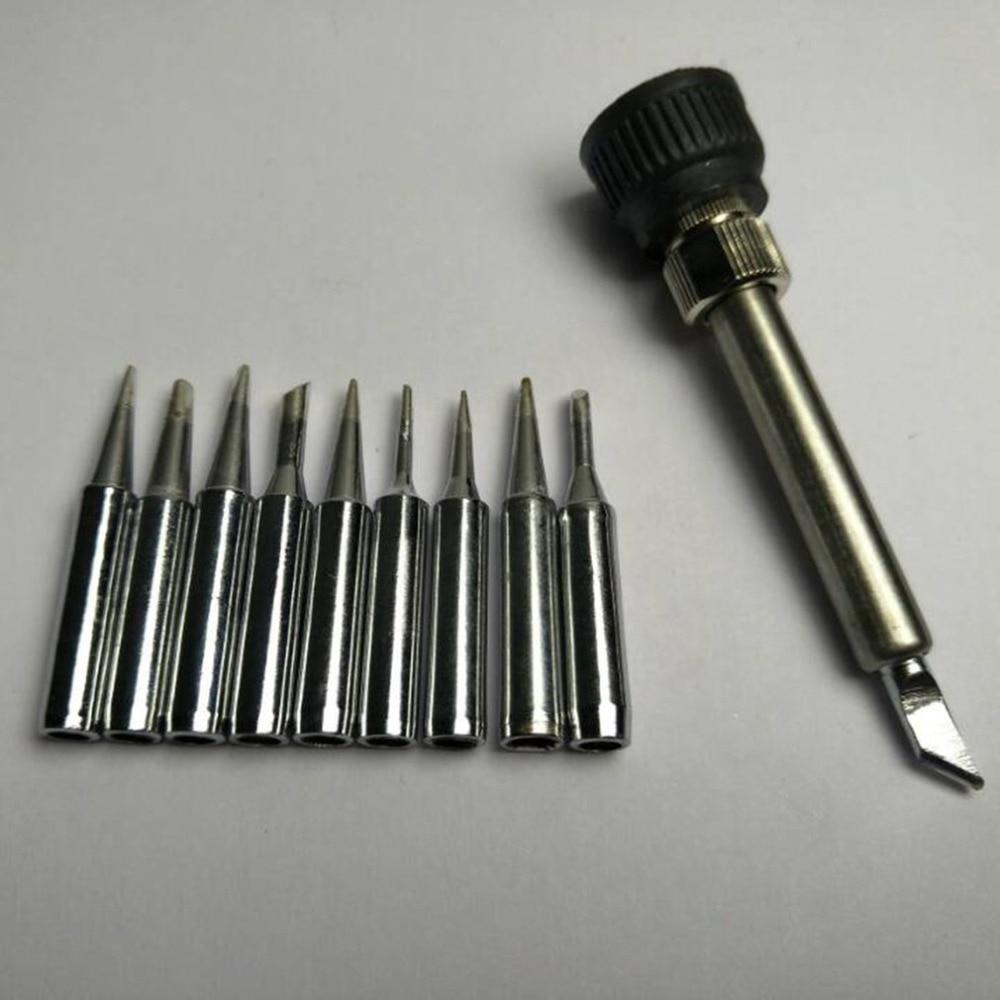 10pcs/SET Lead-free Solder Iron Tip 900M-T Iron Casing For 936 SAIKE ATTEN AOYUE KADA YIHUA Soldering Rework Station