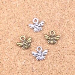 60pcs Charms bee 10x11mm Antique Pendants,Vintage Tibetan Silver Jewelry,DIY for bracelet necklace