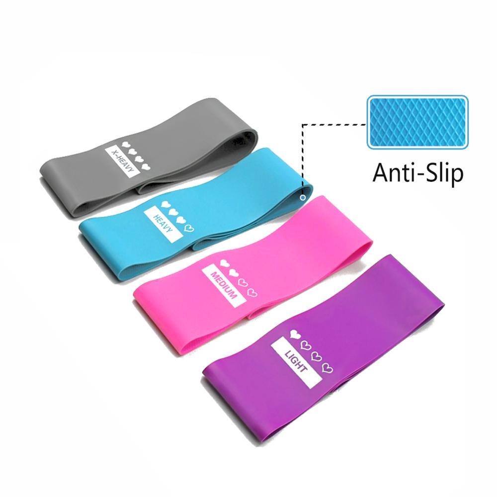 4PCS High Quality Latex Tension Band Fitness Non-slip Resistance Yoga Exercise Physical Therapy Household Fitness 40DC13