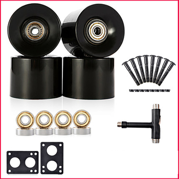 78A 60*45mm Cruiser Skateboard Wheels For Longboard Wheels Durable Rocker  With Bearings and Tools With 6mm Gasket 29mm screw