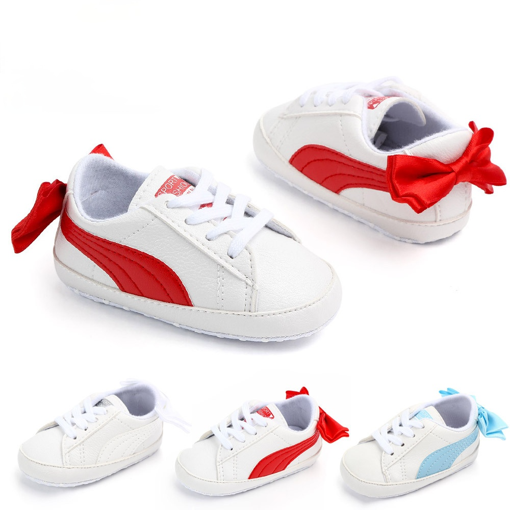 Baby Toddler Shoes for Newborn Non-slip 0-1 Year Prewalke Girl Boy Casual White Shoes First Walkers