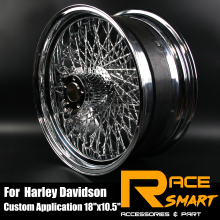 For HARLEY DAVIDSION Motorcycle Modification Chrome Rear Wheel Rim Wheel Rims Motorbike 80 Spoke 18x 10.5