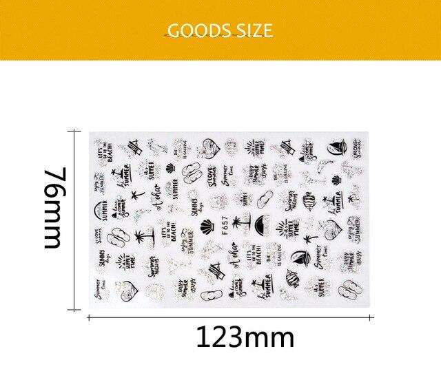 Купить наклейка для дизайна ногтей morixi 5d тисненые золотые банановые картинки цена