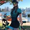 Novo pro macaquinho ciclismo feminino senhoras de manga curta camisa de ciclismo terno geral triathlon mountain bike camisa shorts 9