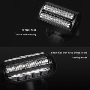 Image 2 - 5 1でバリカン液晶デジタルディスプレイ電動コードレス鼻耳ひげ充電式シェーバーカッター