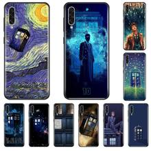 цена Tardis Box Doctor Who TARDIS TPU black Phone Case For Samsung A20 A30 30s A40 A7 2018 J2 J7 prime J4 Plus S5 Note 9 10 Plus онлайн в 2017 году